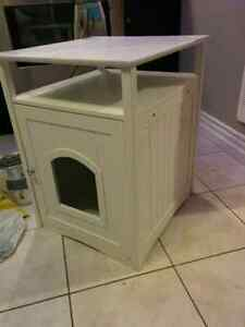 Litter box Cabinet White $50 obo