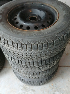 4 - 235 65 16 Firestone Winterforce Winter Tires With Rims