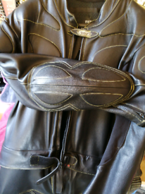 Leather 2 piece motorcycle suit
