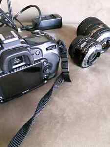 Nikon D90 Camera with lenses, bag, and extras 50mm1.8