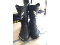 Spada motorcycle boots, size 9.