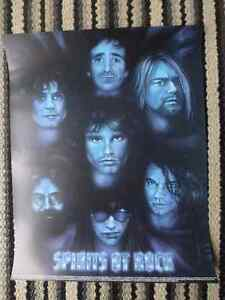 Spirits of Rock Poster -16 X 20- Morrison, Cobain, Scott & More