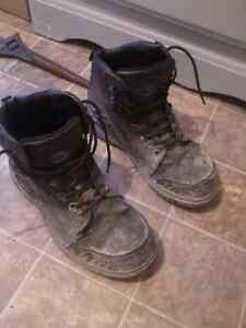 Have 2 Pairs of Mens Steel Toe Work boots.Good condition.
