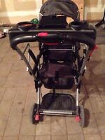 Baby Trend double stroller with car seat
