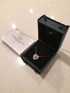 Charles and Colvard Moissanite Necklace Silver (brand new)
