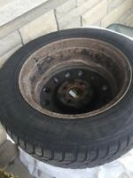 Nissan winter tires on rims.  Size. 195/65R15