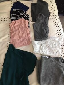 Maternity clothing sizes small or medium
