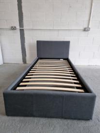 Ex. Heathdon Single Ottoman Bed - Grey