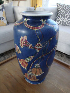 Large Blue Porcelain Vase