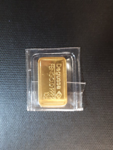 10 g Degussa Fine Gold .9999 Bar