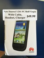 New! Huawei y201 android phone. PC, Bell, or Virgin