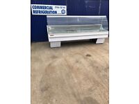 9ft arneg serve over counter display fridge chiller