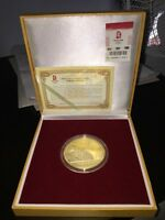 Collector's Item: 2008 Beijing Olympics Gold-Plated Coin