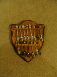 Collectible Spoons and Holder