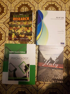 University of Windsor first and second year textbooks Psychology
