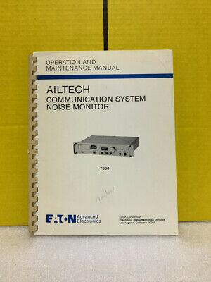 Eaton Ailtech Communication System Noise Monitor Operation Maintenance Manual