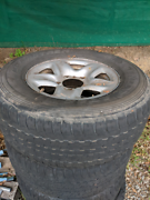 200 series Landcruiser steel wheels and tyres Forest Lake Brisbane South West Preview