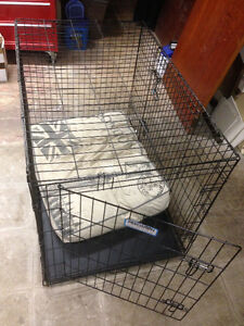 Wire Precision Dog Crate with pan - for dogs up to 90 lb