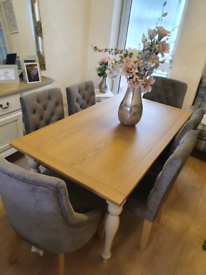 Next 6 seater dining table and chairs