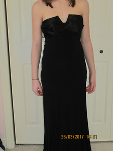 One of a kind simple and elegant black full length gown