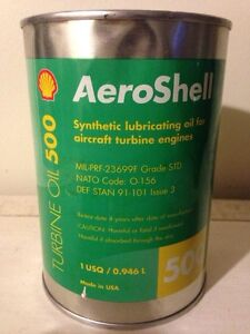 Full Shell Aeroshell motor oil tin can, gas advertising