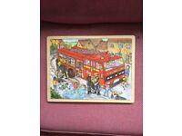 Fireman wooden jigsaw puzzle by Bigjigs