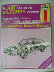 Manual Chevrolet GMC pickup Haynes Ford Fairmont
