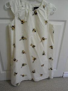 Girls Size 14/Women's XS Victoria Beckham 'Bee' Print Dress RARE