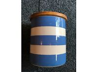 Cornish Blue storage pot