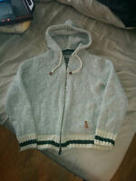 Roots Knitted Zip-Up Hoodie - Perfect Condition - $20