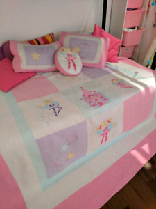 Bed sheet and pillows