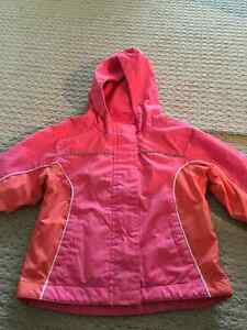 3 season pink fleece lined jacket-$15