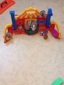 Fisher price circus, Ferris wheel and plane ride