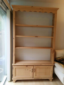 Solid Wooden Hutch/Cabinet Display