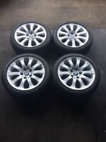"17"" BMW alloy rims mint shape with Dunlop winters"