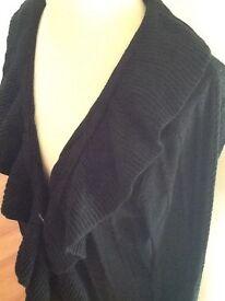 SOON size 16 black cardigan pristine