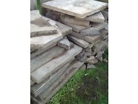Free broken slabs for crazy pavement free hard core collection from WV106SW postcode