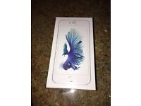 Brand new unopened unlocked iPhone 6s Plus 128gb silver