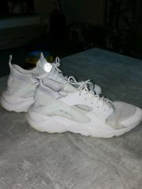 White huarache trainers