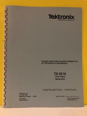 Tektronix 070-7373-00 Tg 501a Time Mark Generator Instruction Manual