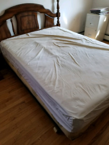 Double mattress with cover