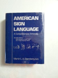 AMERICAN SIGN LANGUAGE   This huge book for deaf signing has a