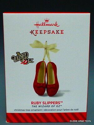 2014 Ruby Slippers Wizard of Oz Porcelain 2014 NEW HALLMARK KEEPSAKE ORNAMENT