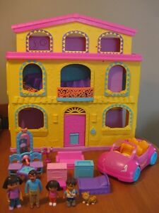 DORA THE EXPLORER PLAYTIME FISHER PRICE HOUSE WITH FURNITURE