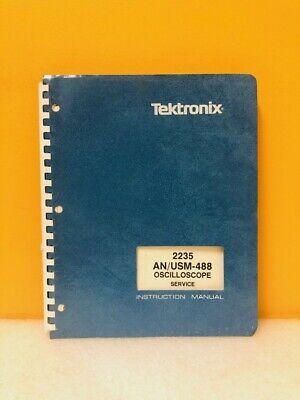 Tektronix 070-4977-00 2235 Anusm-488 Oscilloscope Service Instruction Manual
