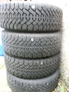 Snow tires and steel rims 195/60R/15