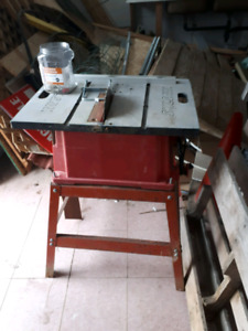 Skill saw table saw with stand