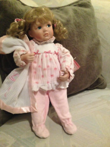 "Ashton Drake ""Ally"" Porcelain Doll From Too Cute To Resist Colle"