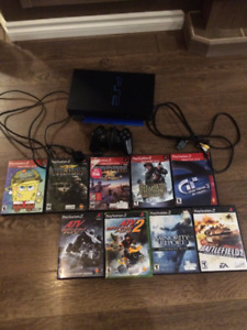 PS2 Console and 9 Games