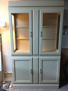 Reduced!!! Art Deco Display Cabinet with Glass Shelving